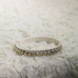 H&M White and Gold Spike Bracelet